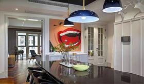 富裕型110平米三室兩廳混搭風格餐廳圖片大全