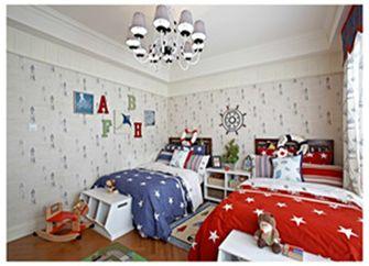 120平米三室一厅田园风格儿童房装修案例
