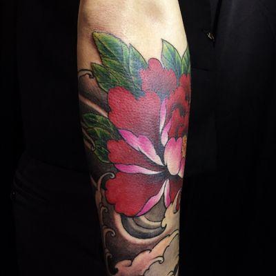 牡丹花3纹身图