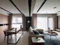 140平米四室两厅混搭风格书房图