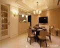 140平米三室两厅现代简约风格餐厅壁纸装修案例