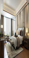 120平米四室两厅现代简约风格卧室飘窗图