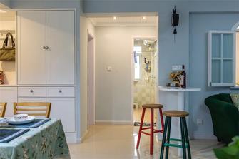 5-10万110平米三室两厅田园风格餐厅门口图片大全
