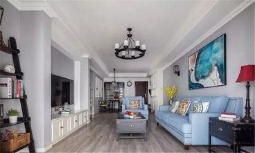 120平米三室两厅混搭风格客厅效果图