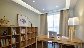 110平米三室兩廳日式風格書房裝修效果圖