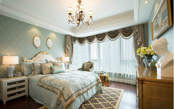 140平米复式英伦风格卧室图片大全