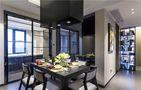 110平米三室两厅现代简约风格餐厅飘窗效果图
