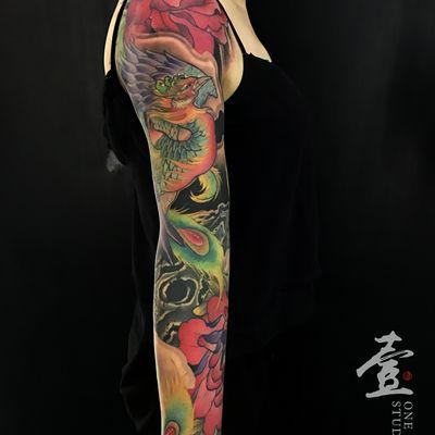 传统花臂纹身图