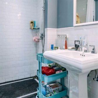 80平米三室两厅北欧风格卫生间装修效果图