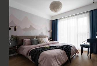 90平米三室一厅北欧风格卧室欣赏图