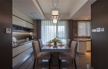 140平米四室两厅北欧风格餐厅欣赏图