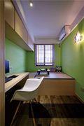 140平米三室一厅田园风格书房装修图片大全