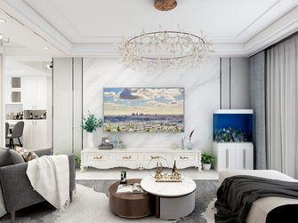 80平米三室一厅混搭风格客厅图片