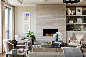 80平米一居室美式风格客厅装修案例
