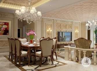 140平米三室两厅新古典风格餐厅装修效果图
