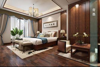 140平米四室四厅中式风格卧室背景墙效果图
