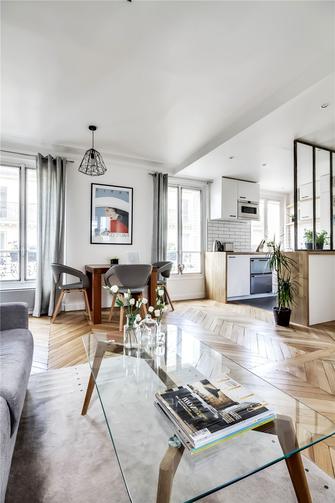 60平米一室两厅现代简约风格餐厅效果图