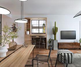 90平米三北歐風格客廳裝修案例