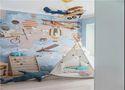 100平米三室一厅美式风格儿童房效果图