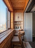 经济型140平米四室两厅英伦风格阳台设计图