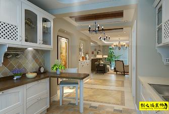 130平米三室一厅美式风格厨房装修案例