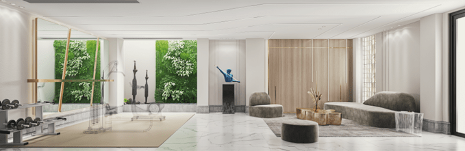 140平米别墅法式风格健身室设计图