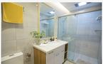 50平米一室一厅日式风格卫生间图