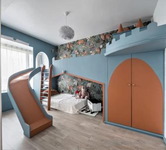 140平米混搭风格儿童房效果图