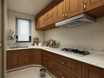 100平米三室两厅现代简约风格厨房橱柜装修图片大全