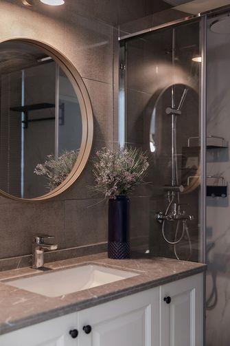 80平米三室两厅法式风格卫生间图片