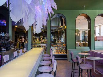 140平米田园风格餐厅装修图片大全