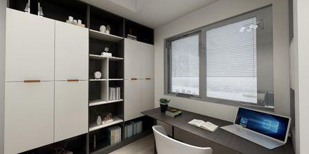 90平米三室两厅欧式风格书房设计图