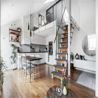 70平米别墅现代简约风格餐厅设计图