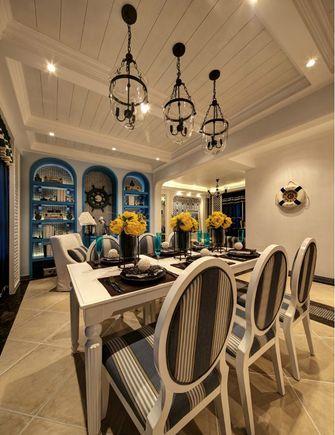 100平米三室一厅地中海风格餐厅装修效果图