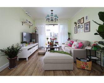 100平米三室一厅田园风格客厅图