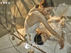 麋鹿森林新娘造型婚纱礼服