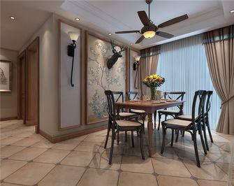 富裕型110平米四室两厅美式风格餐厅图片