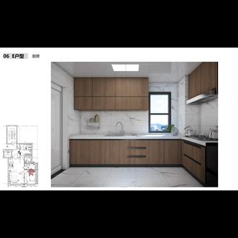 60平米中式风格厨房设计图