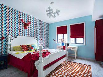 100平米三室一厅田园风格卧室装修案例