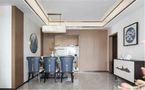 100平米公寓中式风格客厅设计图