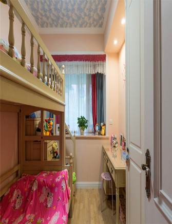 120平米三室一厅美式风格儿童房欣赏图