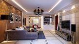 经济型100平米三室三厅东南亚风格客厅装修案例