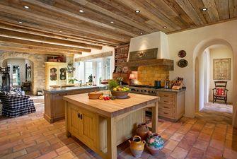 20万以上140平米四室一厅田园风格厨房装修案例
