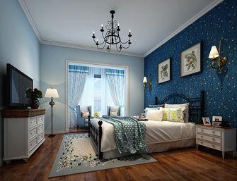 90平米三室两厅地中海风格卧室图片大全