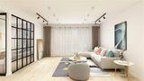 90平米三室一厅田园风格客厅装修效果图