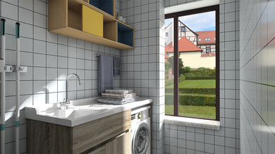 经济型110平米三室一厅新古典风格阳台装修效果图