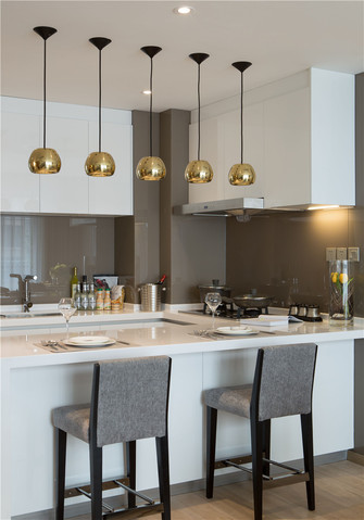 120平米四室一厅现代简约风格厨房装修图片大全
