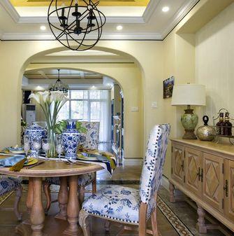 90平米三室两厅地中海风格餐厅装修图片大全