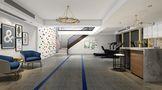 140平米别墅北欧风格健身室图