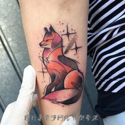 水彩、水墨纹身款式图